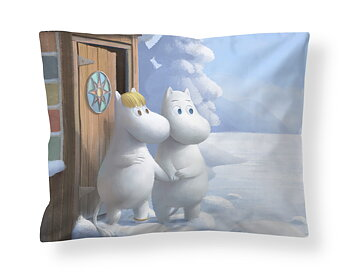 Moomin Pillowcase - Moomintroll & Snorkmaiden (Satin)