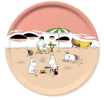 Round Moomin tray Ø 31 cm - Summer 2021