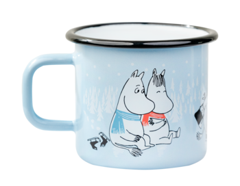 Moomin Enamel mug, 3,7 dl - Day on ice