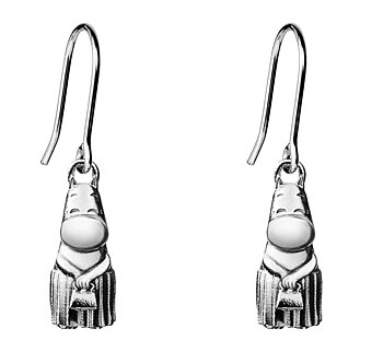 Moomin Silver Earrings, Moominmamma (Saurum Moomin Collection)