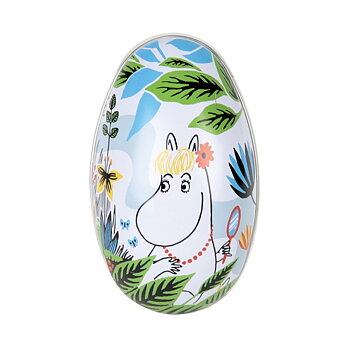 Moomin Decoration Egg - Summer Day - Moomintroll / Snorkmaiden