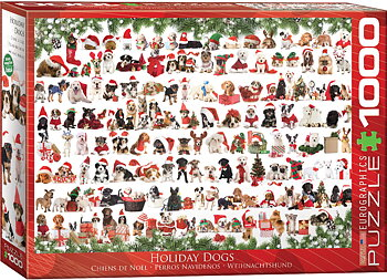 Holiday Dogs 1000 Bitar Eurographics Puzzle