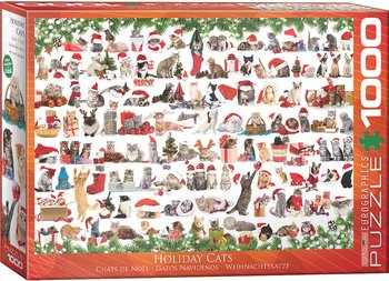 Holiday Cats 1000 Bitar Eurographics Puzzle
