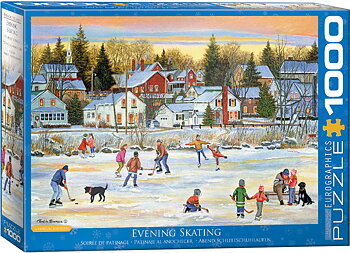 Evening Skating 1000 Bitar Eurographics Puzzle