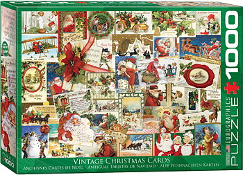 Vintage Christmas Cards 1000 Bitar Eurographics Puzzle