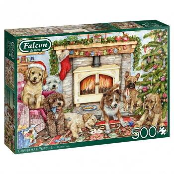 Christmas Puppies 500 Bitar Falcon Jumbo