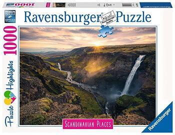 Haifoss Waterfall  Iceland 1000 Bitar Ravensburger