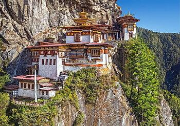 Utsikt över Paro Taktsang Bhutan 500 Bitar Castorland
