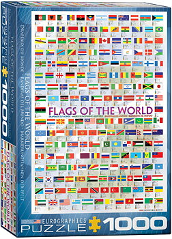 Flags of the World 1000 Bitar Eurographics puzzle