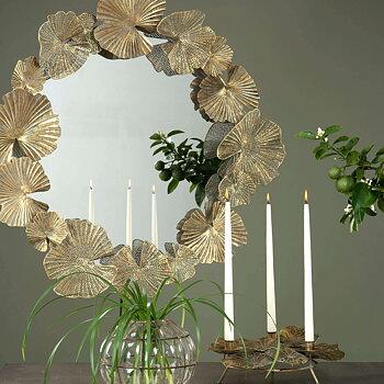 Spegel med Löv Antikgold 92 cm