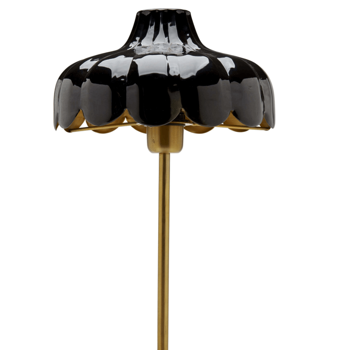 Romantisk Bordslampa Svart / Guld