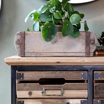 Byrå 16 lådor i trä och järn - Chic Antique