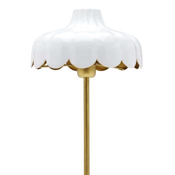 Romantisk Bordslampa Vit / Guld