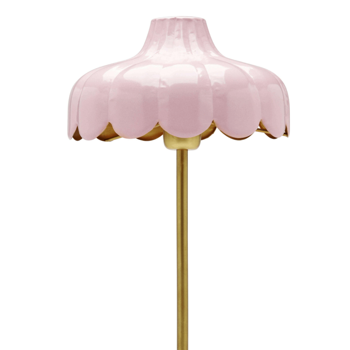 Romantisk Bordslampa Rosa / Guld
