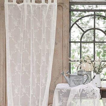 Vita Skira Gardiner med mönster - Italiensk design