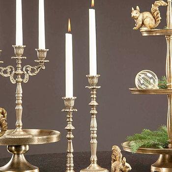 Ljusstake Baroque Antiquegold  35 cm