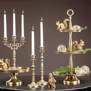 Ljusstake Baroque Antiquegold 29 cm