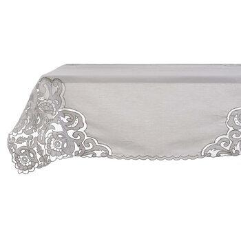 Grå Duk med spets - Romantique Lace -Italiens Design
