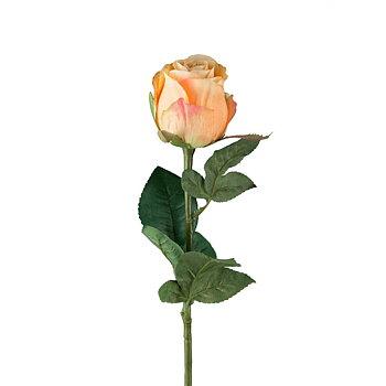 Ros Orange 50 cm - Snittblomma Konstväxt
