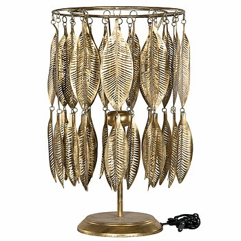 Lampa / Bordslampa Löv Guld H 62