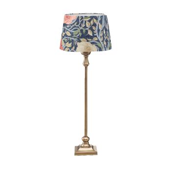 Bordslampa med blommig skärm