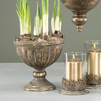 Blomkruka Antikguld Baroque - 19 cm