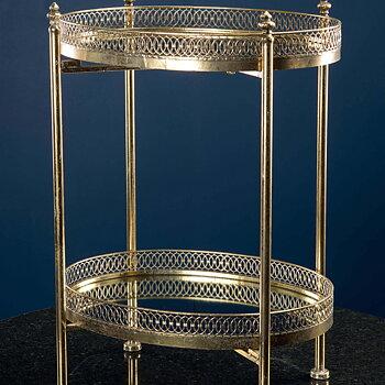 Drinkbord/ Bord med Spegel Guld
