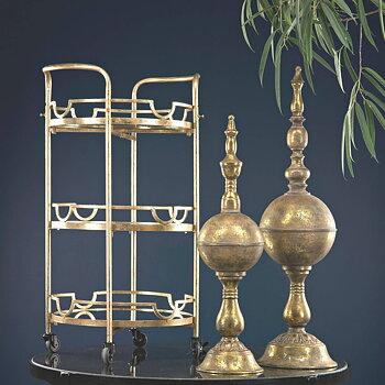 Drinkbord Spegel Guld