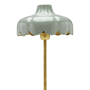 Romantisk Bordslampa Grön / Guld