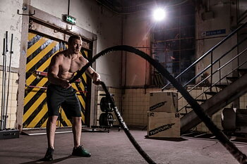 Battle Rope Tunturi 10m med nylonskydd *Åter i lager*
