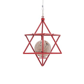 Suet Ball Feeder Star Red