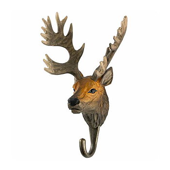 Hand Carved Hook Red Deer