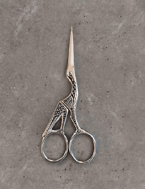 Embroidery scissors - stork - chrome