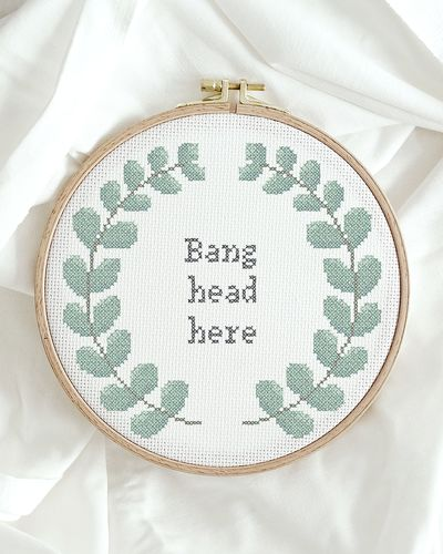 Bang head here (Digitalt broderimönster)