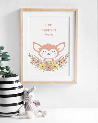 Flower friends Fox (Digital embroidery pattern)