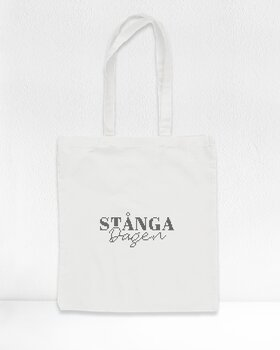 """Stånga dagen"" - Cross stitch embroidery Tote bag"