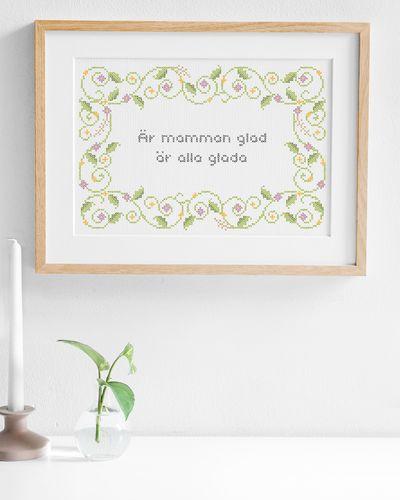 Glada mamman (Digital embroidery pattern)
