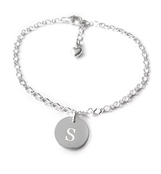 ARMBAND MED COIN, 15-25cm - 925 SILVER