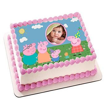 Kakebilde Peppa Gris 3 rosa