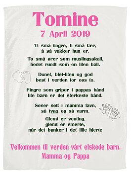 Babyteppe med barne dikt 2