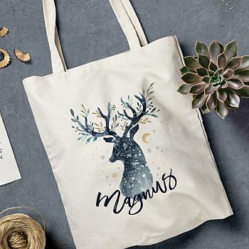 Tygpåse - Deer Christmas