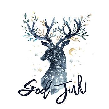 Dubbelvikt kort - Deer Christmas