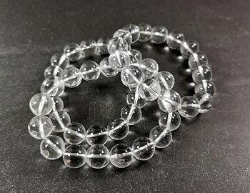 Bergkristall Armband - 12mm Pärlor