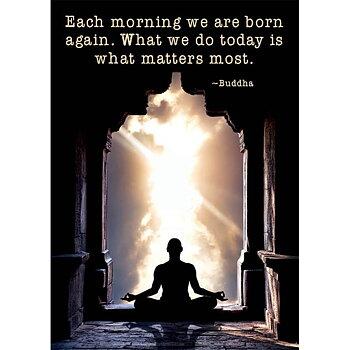 Enkelt vykort - Each morning we are born again