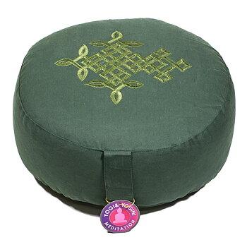 Meditationskudde -  Grön Keltisk  Evighetsknut