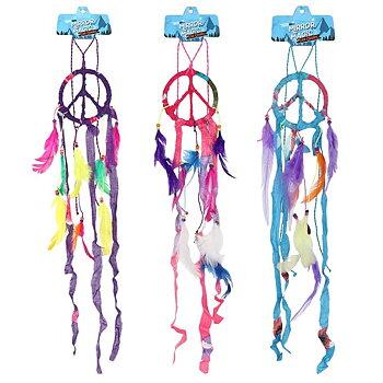 Regnbåg drömfångare med Fredsmärke