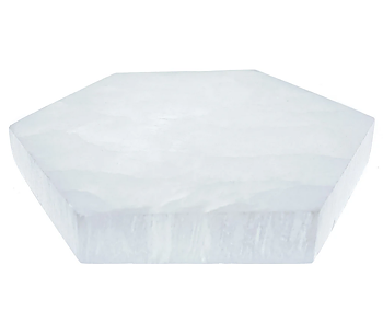 Selenit laddningsplatta (Selenite Charging Plate) - 15cm hexagon