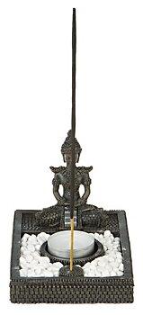 Thai Buddha värmeljushållare/Rökelsehållare