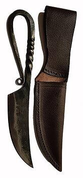 Viking sax/kniv i handsmidd järn
