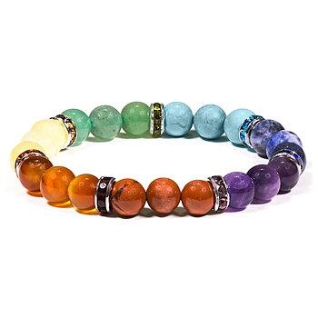 Chakra Armband - 7 olika stenar